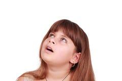 Überraschtes kleines Mädchen Stockfotografie