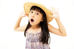 Überraschtes kleines Mädchen Stockbild