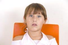 Überraschtes kleines Mädchen Lizenzfreie Stockbilder