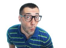 Überraschtes lustiges Gesicht Lizenzfreies Stockbild