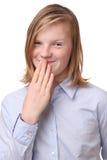 Überraschtes Mädchen Lizenzfreies Stockfoto
