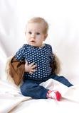 Überraschtes schönes Baby Stockbild