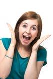 Überraschtes schönes Mädchen Lizenzfreies Stockbild