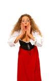 Überraschtes schreiendes Mädchen Lizenzfreies Stockbild