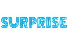 Überraschung, blaue Farbe Stockbild