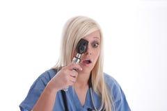 Überraschung, die von einem medizinischen Personal findet stockbilder