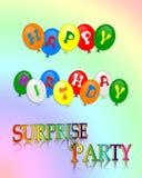 Überraschungs-Geburtstagsfeiereinladung Lizenzfreie Stockfotos