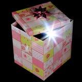Überraschungsgeschenkbox des neuen Produktes Stockbilder