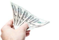 Überreichen Sie 100 Dollar Lizenzfreies Stockfoto