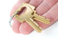 Überreichen von Schlüsseln stockfotos