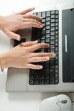 Überreicht Tastatur Stockfotografie