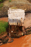 Überreste der alten Brücke Lizenzfreies Stockbild