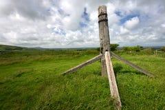 Überreste der alten Windmühle Lizenzfreie Stockbilder