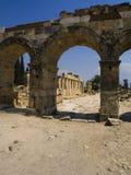 Überreste der altgriechischen Stadt stockfotografie