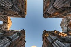 Überreste der Cistercian Abtei von San Galgano, Italien Lizenzfreies Stockbild