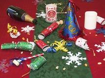 Überreste der Feiertagsparty Lizenzfreie Stockfotos