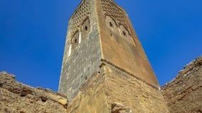 Überreste der römischen Stadt Chellah-Friedhofs rabat marokko lizenzfreies stockfoto