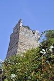 Überreste des maurischen Schlosses von Almuñecar Stockfotografie