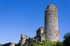 Überreste des mittelalterlichen Schlosses Stockfotografie