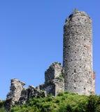 Überreste des mittelalterlichen Schlosses Stockbild