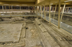 Überreste des Mosaikbodens stockfoto