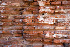 Überreste einer antiken Ziegelsteinstruktur Stockfotos