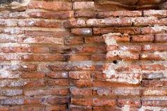 Überreste einer antiken Ziegelsteinstruktur Lizenzfreie Stockfotos