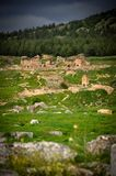 Überreste einer ehemaligen Zivilisation in Pamukkale Stockfotos