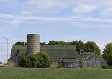 Überreste von Kane County Family Farm Lizenzfreie Stockbilder