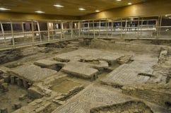 Überreste von Mosaiken stockfotografie