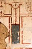 Überreste von Wandbildern in altem Herculaneum, Italien Stockbilder