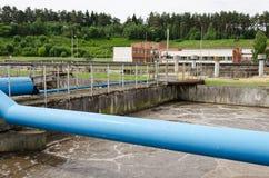 Überschüssige Abwasserwasser-Belüftungsbeckenblase Stockfotografie