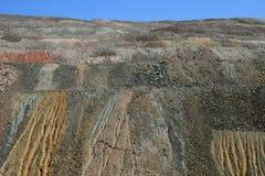 Überschüssige Stapel der Grube Stockbild