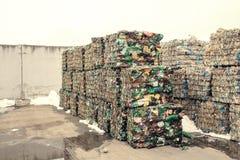 Überschüssige Verarbeitungsanlage Technologischer Prozess Wiederverwertung und Lagerung des Abfalls für weitere Beseitigung Gesch Stockfotos