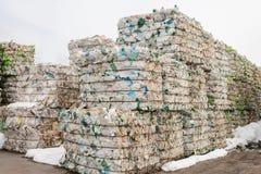 Überschüssige Verarbeitungsanlage Technologischer Prozess Wiederverwertung und Lagerung des Abfalls für weitere Beseitigung Gesch Lizenzfreies Stockfoto