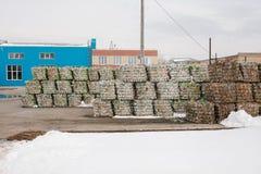Überschüssige Verarbeitungsanlage Technologischer Prozess Wiederverwertung und Lagerung des Abfalls für weitere Beseitigung Gesch Stockbild