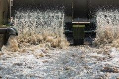 Überschüssige Wasseraufbereitungsanlage Stockbild