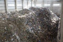 überschüssiger Abfallabfall der Abfall-zu-Energie Stockbild