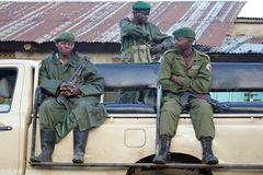 $überschneidung Democratic- Republic Of The CongoKivu Stockbild