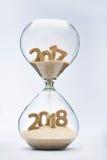 Überschreiten in neues Jahr 2018 Stockfotografie