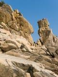 Überschreiten Sie zum Felsen. Stockfotos