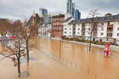Überschwemmen Sie in Frankfurt Stockfotos