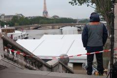 Überschwemmen Sie in Paris in Sommer 2016, Frankreich stockfoto