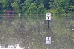 Überschwemmt einem Weisen-Zeichen Stockbild