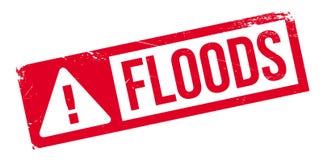 Überschwemmt Stempel Stockfotos
