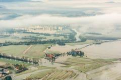Überschwemmte Felder Lizenzfreie Stockbilder