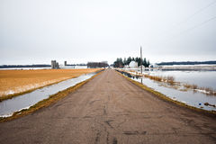 Überschwemmte Felder Stockfoto