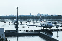 Überschwemmte Flugzeuge Stockbild