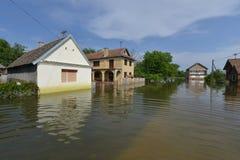 Überschwemmte Häuser Stockfotos