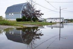 Überschwemmte Küstenstraße Lizenzfreie Stockfotos